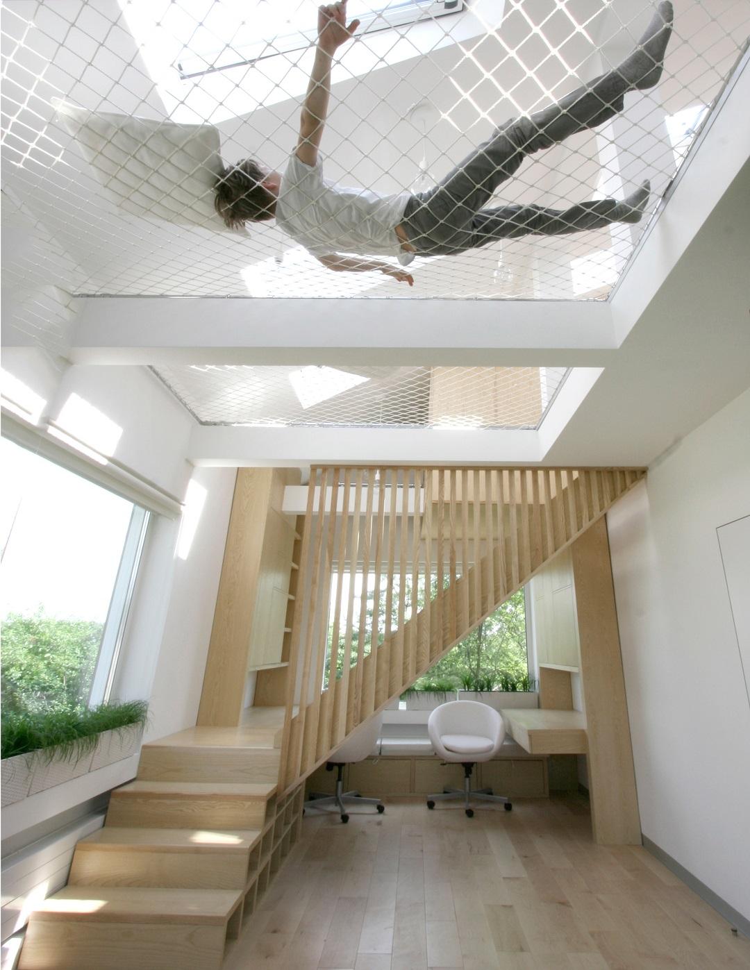 Filet d\'habitation : En suspension dans la maison ! - ICONE Magazine